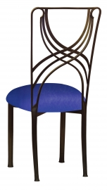 Bronze La Corde with Royal Blue Stretch Knit Cushion