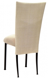 Parchment Linette Chair Cover and Cushion on Black Legs