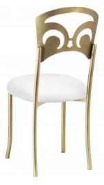 Gold Fleur de Lis with White Suede Cushion