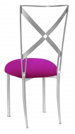 Silver Simply X with Magenta Stretch Knit Cushion