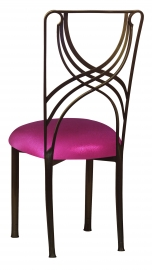 Bronze La Corde with Metallic Fuchsia Stretch Knit Cushion