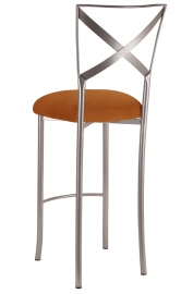 Simply X Barstool with Copper Suede Cushion