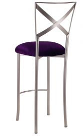 Simply X Barstool with Deep Purple Velvet Cushion