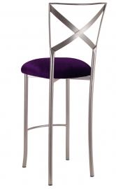 Simply X Barstool with Deep Purple Velvet Cushion