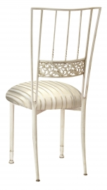 Ivory Bella Fleur with Ivory Striped Cushion