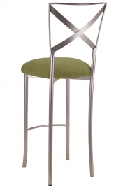 Simply X Barstool with Sage Suede Cushion