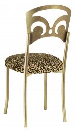 Gold Fleur de Lis with Leopard Boxed Cushion