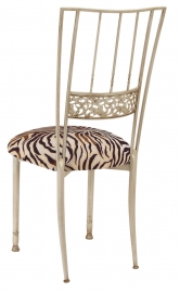 Ivory Bella Fleur with Zebra Stretch Knit Cushion