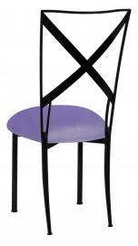 Blak. with Lavender Velvet Cushion