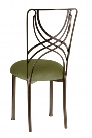 Solar Bronze La Corde with Olive Velvet Cushion