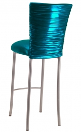 Metallic Teal Chloe on Silver Legs
