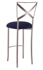 Simply X Barstool with Navy Stretch Knit Cushion