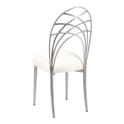 Silver Piazza with Ivory Stretch Knit Cushion