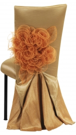 Gold Taffeta BET Dress with Boxed Cushion on Black Legs