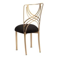Gold La Corde with Black Suede Cushion