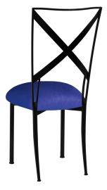 Blak. with Royal Blue Stretch Knit Cushion