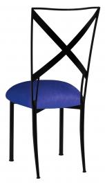 Blak. with Royal Blue Stretch Knit Cushion