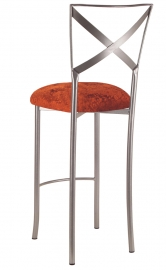 Simply X Barstool with Paprika Crushed Velvet Cushion