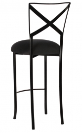 Blak. Barstool with Black Stretch Knit Cushion