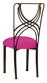Bronze La Corde with Hot Pink Stretch Knit Cushion