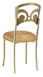 Gold Fleur de Lis with Gold Taffeta Boxed Cushion