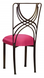 Bronze La Corde with Fuchsia Satin Cushion