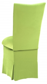 Lime Green Velvet Chair Cover, Cushion and Skirt