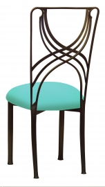 Bronze La Corde with Aqua Stretch Knit Cushion