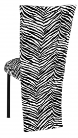 Black and White Zebra Jacket and Cushion on Black Legs