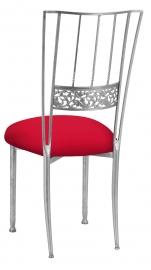 Silver Bella Fleur with Million Dollar Red Stretch Knit Cushion