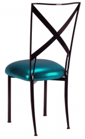 Blak. with Metallic Teal Cushion