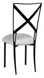 Blak. with Atomic Silver Stretch Knit Cushion
