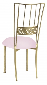 Gold Bella Fleur with Soft Pink Knit Cushion