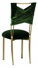 Green Velvet Sweetheart with Green Velvet Cushion on Gold Legs