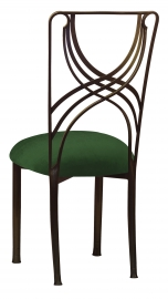 Bronze La Corde with Green Velvet Cushion