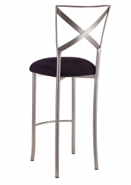 Simply X Barstool with Black Stretch Knit Cushion