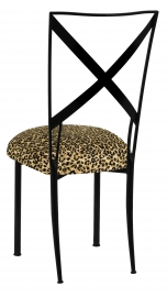 Blak. with Leopard Boxed Cushion