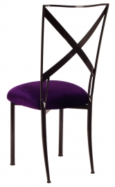 Blak. with Deep Purple Velvet Cushion