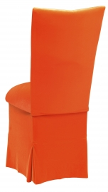 Navel Orange Velvet Chair Cover, Cushion and Skirt