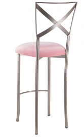 Simply X Barstool with Soft Pink Velvet Cushion