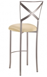 Simply X Barstool with Champagne Bengaline Cushion
