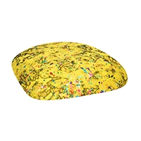 Chairs with Yellow Paint Splatter Cushions