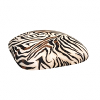 Barstools with Zebra Stretch Knit Cushions