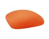 Barstools with Orange Velvet Cushions