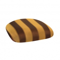 Barstools with Gold & Brown Stripe Cushions