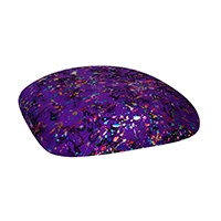 Chairs with Purple Paint Splatter Cushions