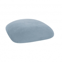 Barstools with Ice Blue Suede Cushions