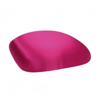 Barstools with Fuchsia Satin Cushions