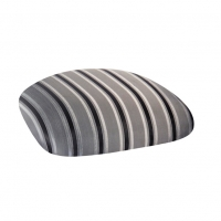 Barstools with Charcoal Stripe Cushions